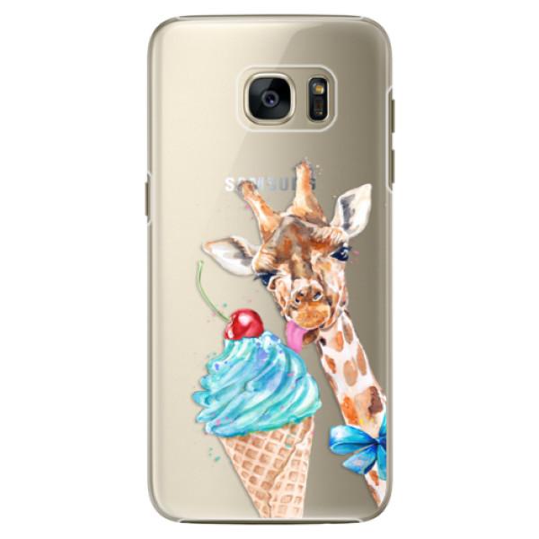 Plastové pouzdro iSaprio Love Ice Cream na mobil Samsung Galaxy S7 Edge (Plastový obal, kryt, pouzdro iSaprio Love Ice Cream na mobilní telefon Samsung Galaxy S7 Edge)