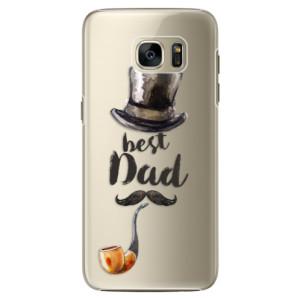 Plastové pouzdro iSaprio Best Dad na mobil Samsung Galaxy S7 Edge