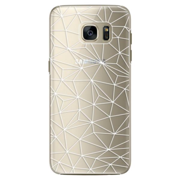 Plastové pouzdro iSaprio Abstract Triangles 03 white na mobil Samsung Galaxy S7 Edge (Plastový obal, kryt, pouzdro iSaprio Abstract Triangles 03 white na mobilní telefon Samsung Galaxy S7 Edge)