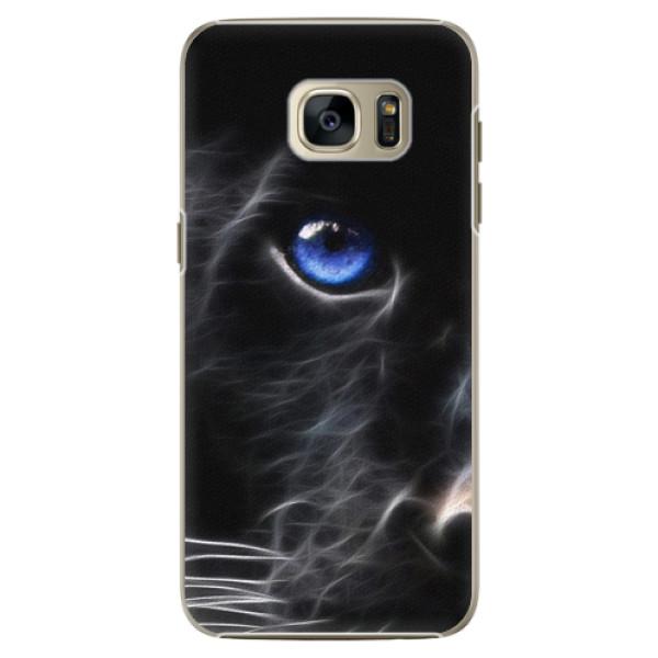 Plastové pouzdro iSaprio Black Puma na mobil Samsung Galaxy S7 Edge (Plastový obal, kryt, pouzdro iSaprio Black Puma na mobilní telefon Samsung Galaxy S7 Edge)