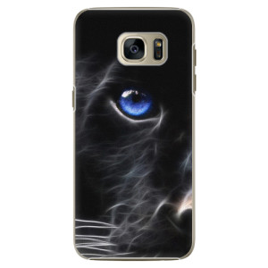 Plastové pouzdro iSaprio Black Puma na mobil Samsung Galaxy S7 Edge