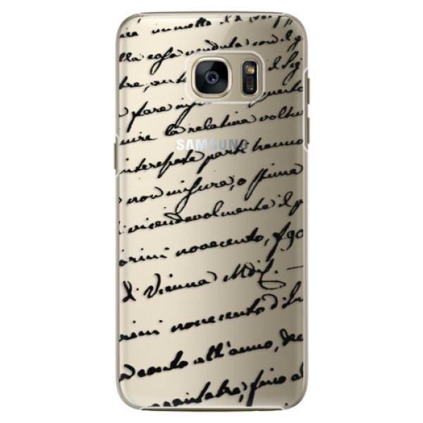 Plastové pouzdro iSaprio Handwriting 01 black na mobil Samsung Galaxy S7 Edge (Plastový obal, kryt, pouzdro iSaprio Handwriting 01 black na mobilní telefon Samsung Galaxy S7 Edge)