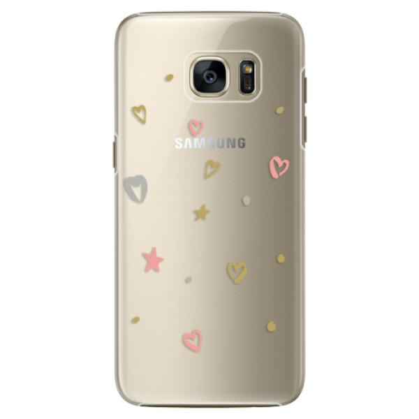 Plastové pouzdro iSaprio Lovely Pattern na mobil Samsung Galaxy S7 Edge (Plastový obal, kryt, pouzdro iSaprio Lovely Pattern na mobilní telefon Samsung Galaxy S7 Edge)