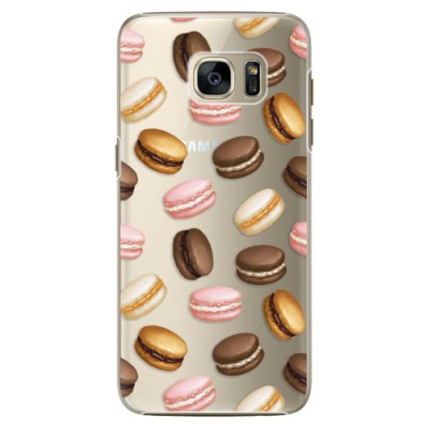 Plastové pouzdro iSaprio Macaron Pattern na mobil Samsung Galaxy S7 Edge (Plastový obal, kryt, pouzdro iSaprio Macaron Pattern na mobilní telefon Samsung Galaxy S7 Edge)
