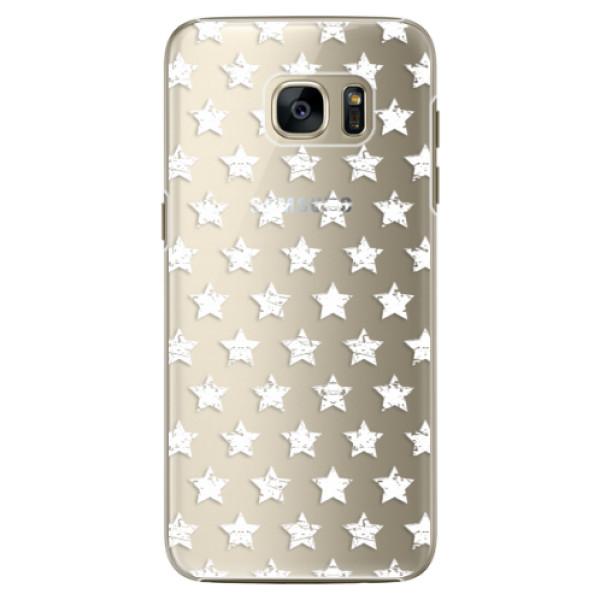 Plastové pouzdro iSaprio Stars Pattern white na mobil Samsung Galaxy S7 Edge (Plastový obal, kryt, pouzdro iSaprio Stars Pattern white na mobilní telefon Samsung Galaxy S7 Edge)