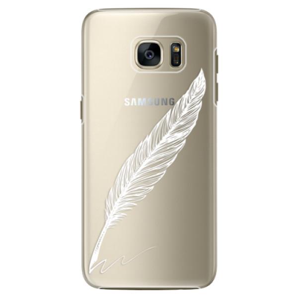 Plastové pouzdro iSaprio Writing By Feather white na mobil Samsung Galaxy S7 Edge (Plastový obal, kryt, pouzdro iSaprio Writing By Feather white na mobilní telefon Samsung Galaxy S7 Edge)