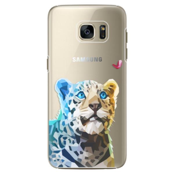 Plastové pouzdro iSaprio Leopard With Butterfly na mobil Samsung Galaxy S7 Edge (Plastový obal, kryt, pouzdro iSaprio Leopard With Butterfly na mobilní telefon Samsung Galaxy S7 Edge)