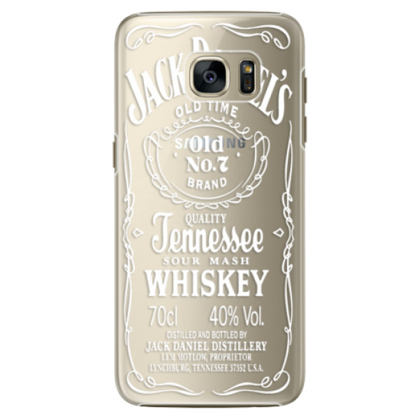 Plastové pouzdro iSaprio Transparent White Jack na mobil Samsung Galaxy S7 Edge (Plastový obal, kryt, pouzdro iSaprio Transparent White Jack na mobilní telefon Samsung Galaxy S7 Edge)