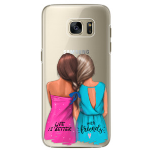 Plastové pouzdro iSaprio Best Friends na mobil Samsung Galaxy S7 Edge