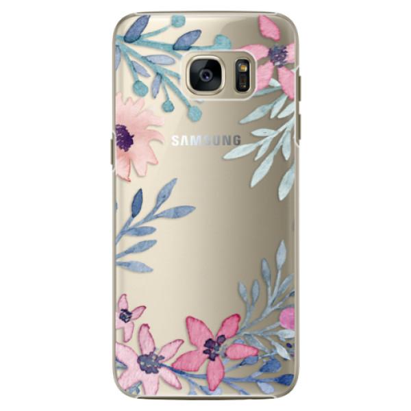 Plastové pouzdro iSaprio Leaves and Flowers na mobil Samsung Galaxy S7 Edge (Plastový obal, kryt, pouzdro iSaprio Leaves and Flowers na mobilní telefon Samsung Galaxy S7 Edge)