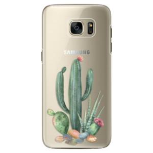 Plastové pouzdro iSaprio Cacti 02 na mobil Samsung Galaxy S7 Edge