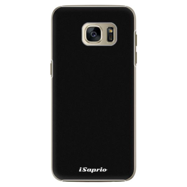 Plastové pouzdro iSaprio 4Pure černé na mobil Samsung Galaxy S7 Edge (Plastový obal, kryt, pouzdro iSaprio 4Pure černé na mobilní telefon Samsung Galaxy S7 Edge)