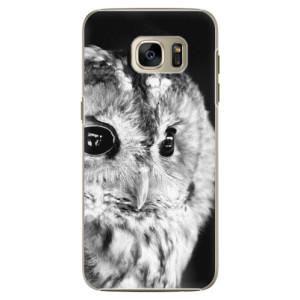 Plastové pouzdro iSaprio BW Owl na mobil Samsung Galaxy S7 Edge