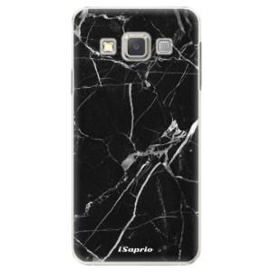 Plastové pouzdro iSaprio Black Marble 18 na mobil Samsung Galaxy A3