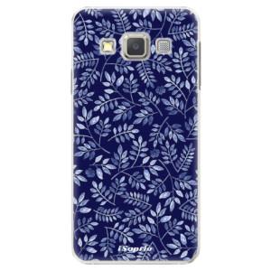 Plastové pouzdro iSaprio Blue Leaves 05 na mobil Samsung Galaxy A3