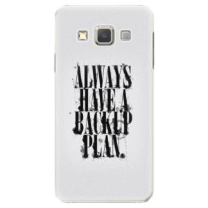 Plastové pouzdro iSaprio Backup Plan na mobil Samsung Galaxy A3