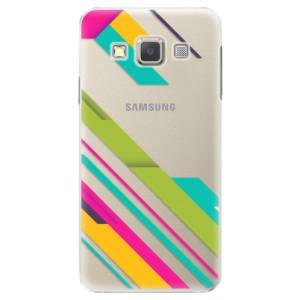 Plastové pouzdro iSaprio Color Stripes 03 na mobil Samsung Galaxy A3