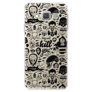 Plastové pouzdro iSaprio Comics 01 black na mobil Samsung Galaxy A3