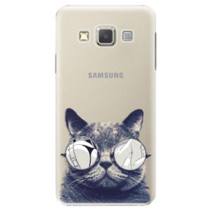 Plastové pouzdro iSaprio Crazy Cat 01 na mobil Samsung Galaxy A3