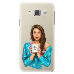Plastové pouzdro iSaprio Coffe Now Brunette na mobil Samsung Galaxy A3