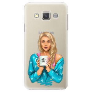 Plastové pouzdro iSaprio Coffe Now Blond na mobil Samsung Galaxy A3