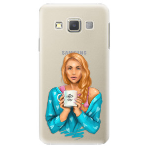 Plastové pouzdro iSaprio Coffe Now Redhead na mobil Samsung Galaxy A3