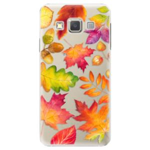 Plastové pouzdro iSaprio Autumn Leaves 01 na mobil Samsung Galaxy A3