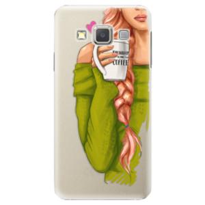 Plastové pouzdro iSaprio My Coffe and Redhead Girl na mobil Samsung Galaxy A3