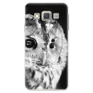 Plastové pouzdro iSaprio BW Owl na mobil Samsung Galaxy A3