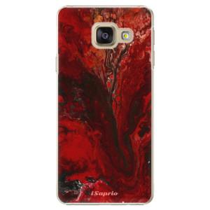 Plastové pouzdro iSaprio RedMarble 17 na mobil Samsung Galaxy A3 2016