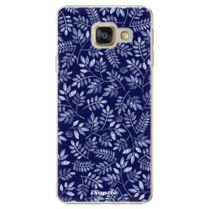 Plastové pouzdro iSaprio Blue Leaves 05 na mobil Samsung Galaxy A3 2016