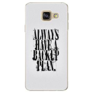 Plastové pouzdro iSaprio Backup Plan na mobil Samsung Galaxy A3 2016