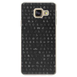 Plastové pouzdro iSaprio Ampersand 01 na mobil Samsung Galaxy A3 2016