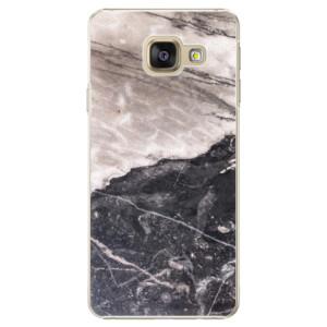 Plastové pouzdro iSaprio BW Marble na mobil Samsung Galaxy A3 2016