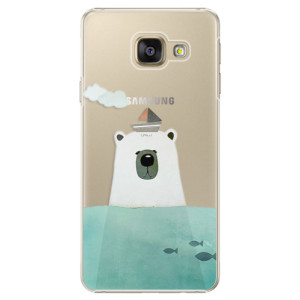 Plastové pouzdro iSaprio Bear With Boat na mobil Samsung Galaxy A3 2016