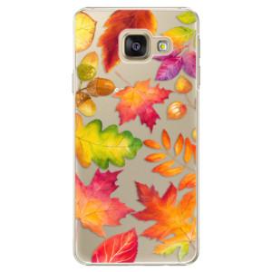 Plastové pouzdro iSaprio Autumn Leaves 01 na mobil Samsung Galaxy A3 2016