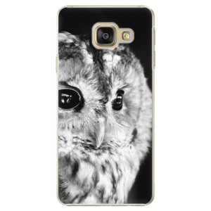 Plastové pouzdro iSaprio BW Owl na mobil Samsung Galaxy A3 2016