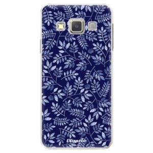 Plastové pouzdro iSaprio Blue Leaves 05 na mobil Samsung Galaxy A5