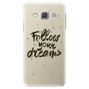 Plastové pouzdro iSaprio Follow Your Dreams black na mobil Samsung Galaxy A5