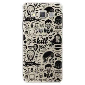 Plastové pouzdro iSaprio Comics 01 black na mobil Samsung Galaxy A5