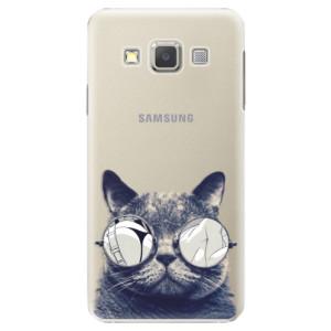 Plastové pouzdro iSaprio Crazy Cat 01 na mobil Samsung Galaxy A5