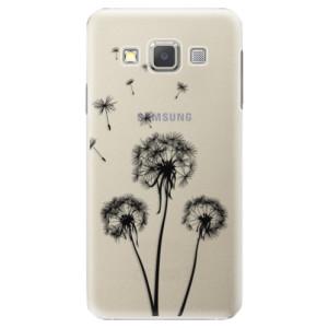 Plastové pouzdro iSaprio Three Dandelions black na mobil Samsung Galaxy A5