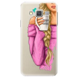Plastové pouzdro iSaprio My Coffe and Blond Girl na mobil Samsung Galaxy A5