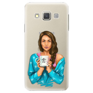 Plastové pouzdro iSaprio Coffe Now Brunette na mobil Samsung Galaxy A5