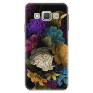 Plastové pouzdro iSaprio Dark Flowers na mobil Samsung Galaxy A5