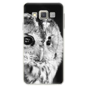 Plastové pouzdro iSaprio BW Owl na mobil Samsung Galaxy A5