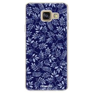 Plastové pouzdro iSaprio Blue Leaves 05 na mobil Samsung Galaxy A5 2016
