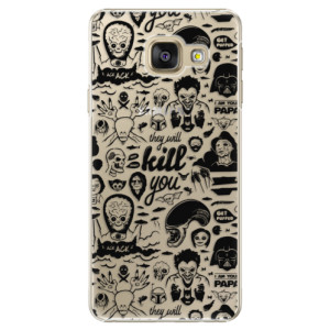 Plastové pouzdro iSaprio Comics 01 black na mobil Samsung Galaxy A5 2016