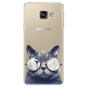 Plastové pouzdro iSaprio Crazy Cat 01 na mobil Samsung Galaxy A5 2016