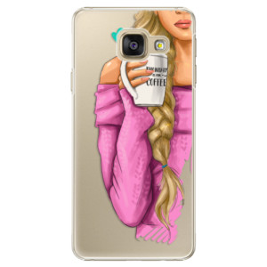 Plastové pouzdro iSaprio My Coffe and Blond Girl na mobil Samsung Galaxy A5 2016